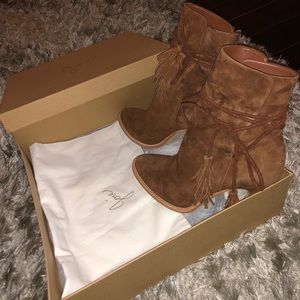 """Joie Shoes - Joie """"Chap"""" Suede Leather Booties"""